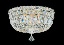 Schonbek 5892-211M - Petit Crystal Deluxe 5 Light 110V Close to Ceiling in Aurelia with Clear Gemcut Crystal