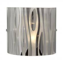Galaxy Lighting 213271CH - 2-Light Wall Sconce in Polished Chrome with Chrome Plated Frosted Glass