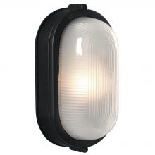 Galaxy Lighting 305114 BLK - Cast Aluminum Marine Light - Black w/ Frosted Glass