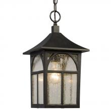 Galaxy Lighting 311374BK - Outdoor Lantern - Black with Clear Seeded Glass