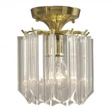 Galaxy Lighting 611106CL - Semi-Flush Mount Polished Brass w/ Clear Lucite