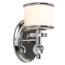 Galaxy Lighting 712061CH - 1-Light Vanity Light  - Polished Chrome with White Glass