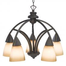 Galaxy Lighting 801355RBZ - Five Light Bronze Down Chandelier