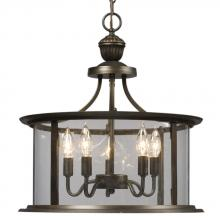 Galaxy Lighting 912301ORB - Pendant - Oil Rubbed Bronze with Clear Glass