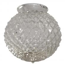 "Galaxy Lighting G-D61035 - 6"" Clear Diamond Cut Glass for 3.25"" Holder"
