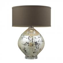 Dimond D2262 - Limerick Ceramic Table Lamp In Turrit Gloss Beige With Brown Linen Shade
