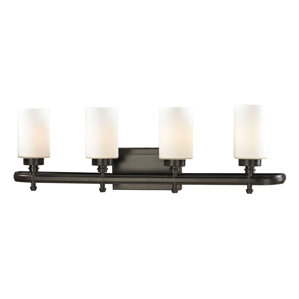 Dawson 4 Light Vanity In Oil Rubbed Bronze And O