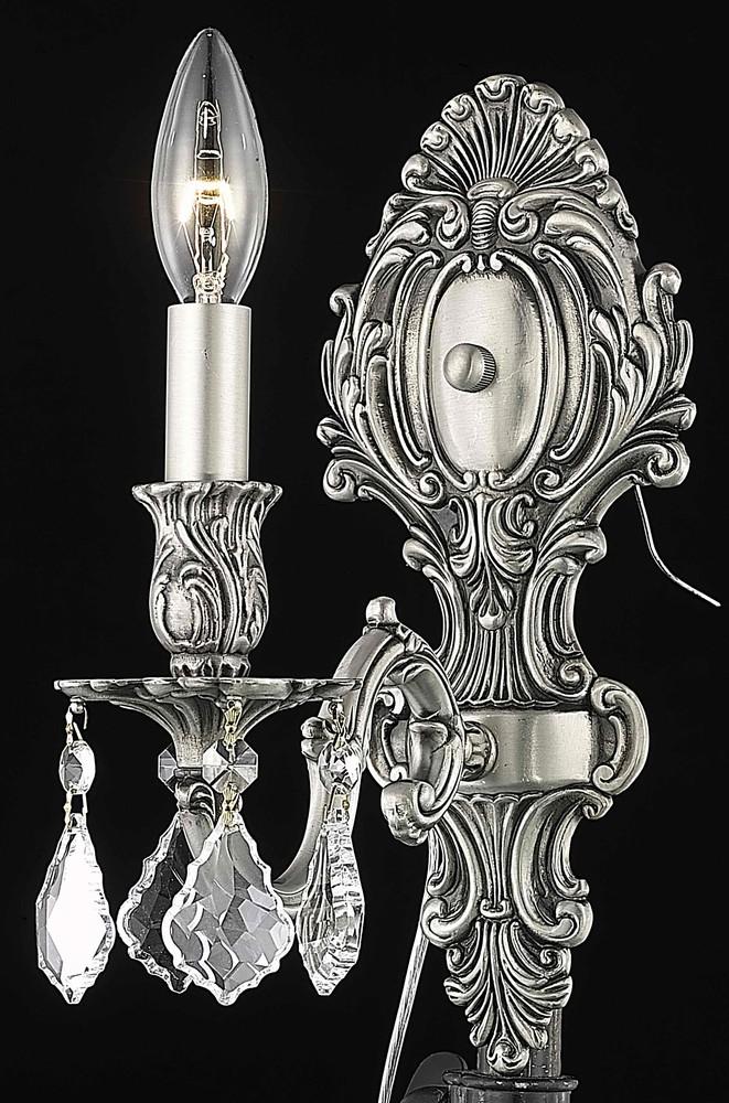 Monarch 1 Light Pewter Wall Sconce Clear Royal Cut Crystal H8kg0 Gerrie Lighting Fan Studio